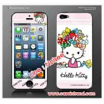 ฟิล์มกันรอย iPhone 5 ลายการ์ตูนหน้าหลัง - ลาย Kitty โบว์