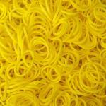 หนังยางถัก สีเหลือง 1500 เส้น (Yellow Loom Bands)
