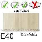 E40 - Brick White