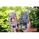 เคส iPhone5s/5 ฝาประกบหน้าหลัง - ลูฟี่ พื้นขาว