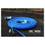 สายชาร์จ 3 หัว เชือกถัก 1 เมตร - สีฟ้า