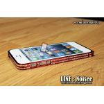 เคส iPhone5/5s CROSS LINE Diamond - สีแดง