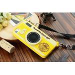 เคส iPhone5/5s - Camera ซิลิโคน สีเหลือง