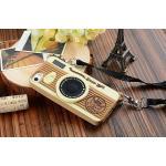 เคส iPhone5/5s - Camera ซิลิโคน สีน้ำตาล