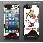 ฟิล์มกันรอย iPhone 5 ลายการ์ตูนหน้าหลัง - ลาย Kitty milk