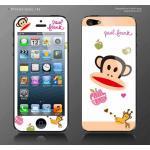 ฟิล์มกันรอย iPhone 5 ลายการ์ตูนหน้าหลัง - ลาย paul frank apple