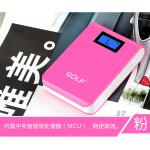 PowerBank - Golf GF-LCD04 10400 mAh - สีชมพู