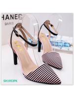 Pre รองเท้าคัทชู ส้นสูง แฟชั่น ราคาถูก มีไซด์ 35-39 (ชมพู)