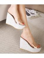 พรีออเดอร์ รองเท้า ส้นเตารีด สีเงิน มีไซด์ 35-39