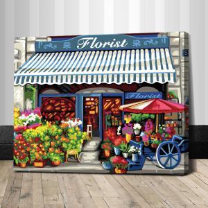 """TG294 ภาพระบายสีตามตัวเลข """"ร้านขายดอกไม้"""""""