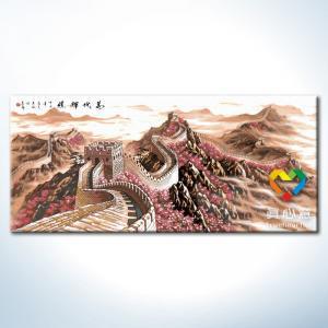 """TN001 ภาพระบายสีตามตัวเลข """"กำแพงเมืองจีนเหนือขุนเขา"""""""