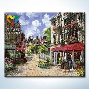 """TG150 ภาพระบายสีตามตัวเลข """"ร้านค้ากลางเมือง"""""""
