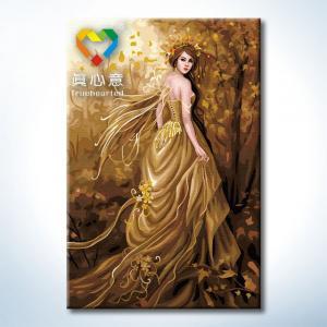"""TK005 ภาพระบายสีตามตัวเลข """"เจ้าหญิงแห่งป่าสีทอง"""""""