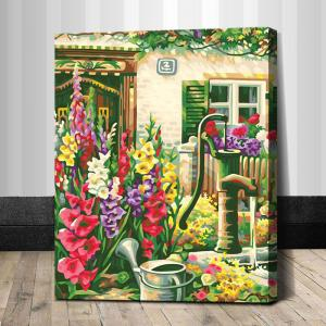"TG292 ภาพระบายสีตามตัวเลข ""ดอกไม้หลากสีหน้าบ้านเลขที่ 2"""