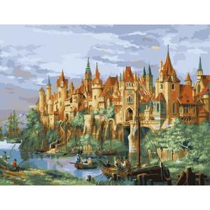 """MMC046 ภาพระบายสีตามตัวเลข """"เมืองยุคกลางโรเธนเบิร์ก"""""""
