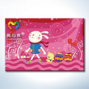 """TC061 ภาพระบายสีตามตัวเลข """"กระต่ายน้อยในฝันสีชมพู"""""""