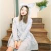 เสื้อคลุมแฟชั่นมีฮูดพร้อมติดหูกระต่ายด้วยนะค่ะน่ารักมากๆเลยค่ะ