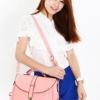 (พร้อมส่ง)กระเป๋าหนัง ทรงเรียบๆ สีชมพูโอรส สุดฮิต แบรนด์ Axixi แท้ 100%