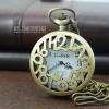 นาฬิกาพกฝาฉลุดีไซต์ Arabic art สีทองเหลืองวินเทจหน้าปัดอารบิคระบบถ่านควอทซ์