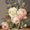 """MG577 ภาพระบายสีตามตัวเลข """"ดอกไม้ตูมในแจกันแก้ว"""""""