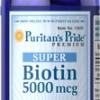 Puritan's Pride - Super Biotin 5000 mcg 60 Capsules