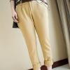 (พร้อมส่ง)กางเกงแฟชั่น ขาเดฟยาว สีกากี + เข็มขัดหนัง สีน้ำตาล แฟชั่นเกาหลี