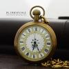 นาฬิกาพกตัวเรือนสีทองเหลือง หน้าเปลื่อย ระบบกลไกไขลาน ดีไซต์ยุโรปวินเทจ