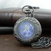 นาฬิกาพกลายเถาวัลย์ดอกเดซี่ Blue Daisy Lace ระบบไขลาน