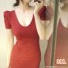 party dress338สีแดง