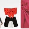 พร้อมส่ง)เสื้อ NEW RELEASE CORSET TUBE TOP WITH BOW สีชมพู