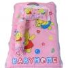 ชุดเบาะที่นอนเด็กผ้าคอตตอนเล็ก พร้อมกระเป๋าพลาสติกสำหรับพกพา (สีชมพู)