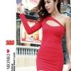 party dress205สีแดง