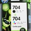 HP 704 INK CARTRIDGE COMBO PACK BLACK/TRICOLOR (แท้) F6V33A