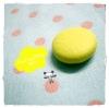 BPVC6 : กระดุมปั๊มผ้าหนังสีเหลือง ขนาด 1.5 cm ราคาต่อ 1/2 โหลค่ะ