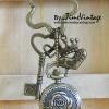 """พวงกุญแจนาฬิกาน่ารักสไตล์วินเทจประดับตัวห้อยมงกุฎลาย """"FOREVER"""" - Cute Key chain Watch in """"FOREVER Design"""""""