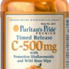 Puritan's Pride - Vitamin C 500 mg with Rose hips Time Release 250 Caplets