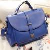 (พร้อมส่ง)กระเป๋าหนัง ทรงเรียบๆ สีน้ำเงิน แบรนด์ Axixi ของแท้ 100%