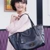(พร้อมส่ง)กระเป๋าแฟชั่น ใบใหญ่ สไตล์เรียบๆ สีดำ จุของได้เยอะ แบรนด์ PG