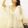 เสื้อชีฟอง สวยๆ แขนพอง ทรงบอลลูน แฟชั่นเกาหลี สีขาว