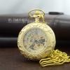 นาฬิกาพกลายเถาวัลย์ดอกเดซี่ Golden Daisy Lace ระบบไขลาน