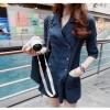 PARTYSU.YY ชุดจั๊มสูทกางเกงขาสั้นเสื้อคอปกผ้าลินินสีกรมแขนพับแต่งกระดุมด้านหน้า ทรงสวยใส่สบายค่ะ
