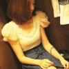 เสื้อน่ารัก สุดฮิต ผ้าลูกไม้เนื้อนิ่ม แขนพอง แฟชั่นเกาหลี สีครีม