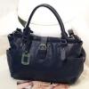 (พร้อมส่ง)กระเป๋าหนังนิ่ม สีกรมท่า ทรงสวยคลาสสิค แบรนด์ Axixi ของแท้ 100%