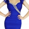 party dress281สีน้ำเงิน