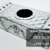 กล่องทิชชู่ Tissue Box D.A.D type Crown มงกุฏเงินหนังเงิน