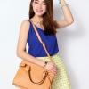 (พร้อมส่ง)กระเป๋าหนัง ทรงสวย สุดฮิต สีแอพพริคอท แบรนด์ Axixi ของแท้ 100%