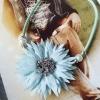 สร้อยคอแฟชั่น ดอกไม้ใหญ่สีฟ้า