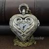 นาฬิกาสร้อยคอทรงหัวใจสลักลาย Craved Heart สีทองเหลือง (พร้อมส่ง)