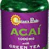 Puritan's Pride ACAI 1000 mg with Green Tea 500 mg 120 Softgels