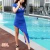 party dress334สีน้ำเงิน